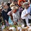 Tradycyjne święcenie pokarmów przed Bazyliką Mariacką