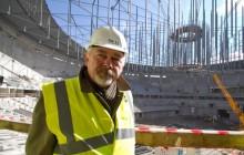 Arena Kraków pnie się do góry - Prezydent Krakowa na budowie hali [ Fotoreportaż ]