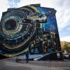 Wielki Mural AGH ozdobił budynek przy ul. Czarnowiejskiej [ Fotoreportaż ]