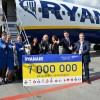7 mln pasażerów Ryanaira w Krakowie