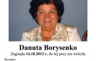 Zaginiona Danuta Borysenko, 61 lat, poszukiwana przez policję