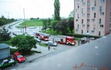Kraków: Pożar mieszkania w bloku przy ul. Różyckiego [ zdjęcia ]