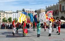 Sbandieratorzy z Arezzo wystąpili w Krakowie [ Fotorelacja + video]
