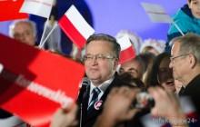 Bronisław Komorowski na wiecu w Krakowie -Spóźnił się na spotkanie, bo utknął na Zakopiance [ Fotorelacja ]
