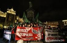 Kraków: Protest przeciw islamskim imigrantom przeszedł przez Kraków [ zdjęcia ]