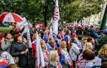 Nauczyciele wyszli na ulicę by zaprotestować [ foto ]