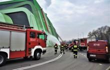 Ćwiczenia straży pożarnej w Ekospalarni Kraków