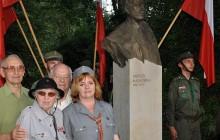 Andrzej Małkowski w Galerii Wielkich Polaków XX wieku w  krakowskim Parku im. Jordana ( zdjęcia )