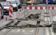 Trwa remont torowiska na ulicy Limanowskiego ( zdjęcia )