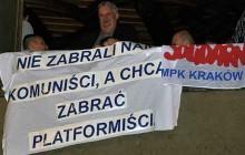 Sesja Rady Miasta Krakowa: Protest Związkowców z krakowskiego MPK