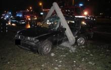 Wypadek drogowy na al. Pokoju. Zginął 26-letni kierujący BMW (zdjęcia)
