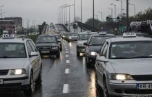 Protest taksówkarzy w Krakowie