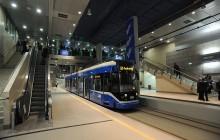 Środowy wieczór bez tramwajów w tunelu pod dworcem