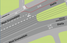 Od września udrożnienie ruchu samochodowego na moście Grunwaldzkim