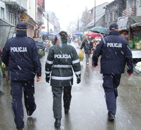 Polsko - słowackie patrole w Nowym Targu.