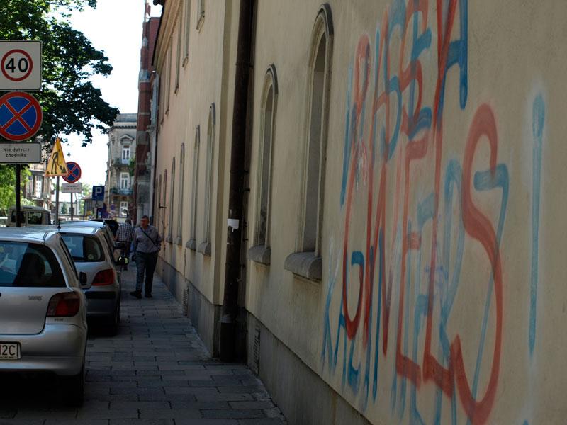 Fin zatrzymany przez Strażników Miejskich za graffiti