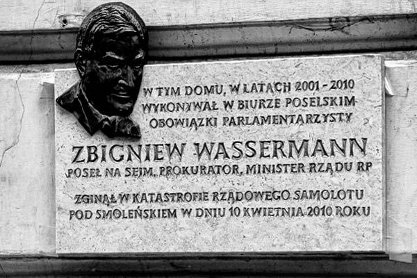 Odsłonięto tablicę upamiętniającą Zbigniewa Wassermana