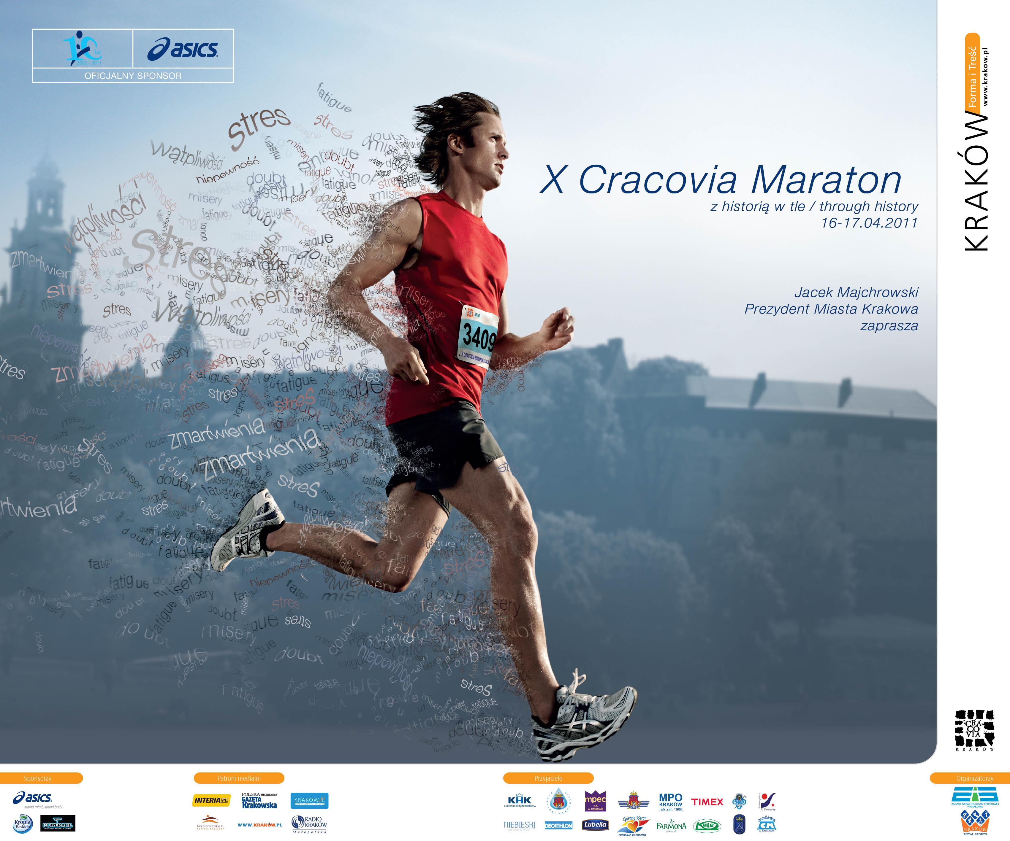 Ponad 4 tysiące zgłoszeń do X Cracovia Maraton