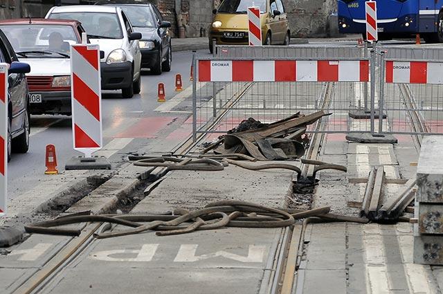 Tydzień bez tramwajów na alei Pokoju