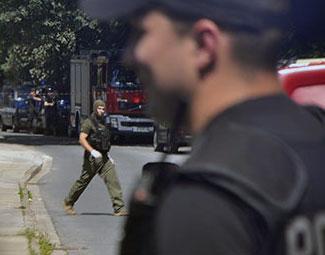 Wybuch na Komendzie Policji: Ranny policyjny pirotechnik