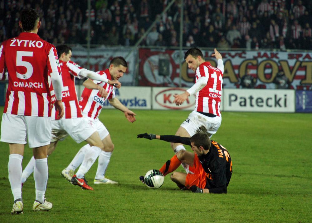 Klęska Cracovii w meczu z Zagłebiem (zobacz zdjęcia)