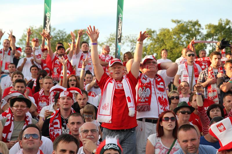 Tak w Krakowie dopingowano Biało-Czerwonych [ zobacz zdjęcia ]