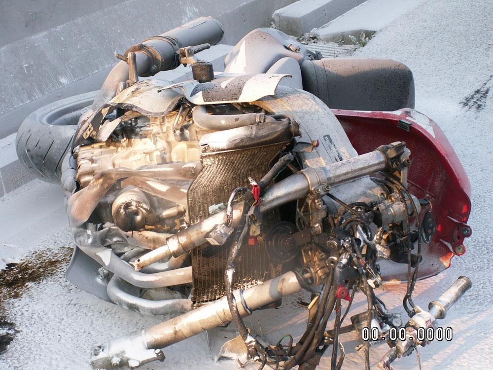 Wypadek śmiertelny nietrzeźwego motocyklisty