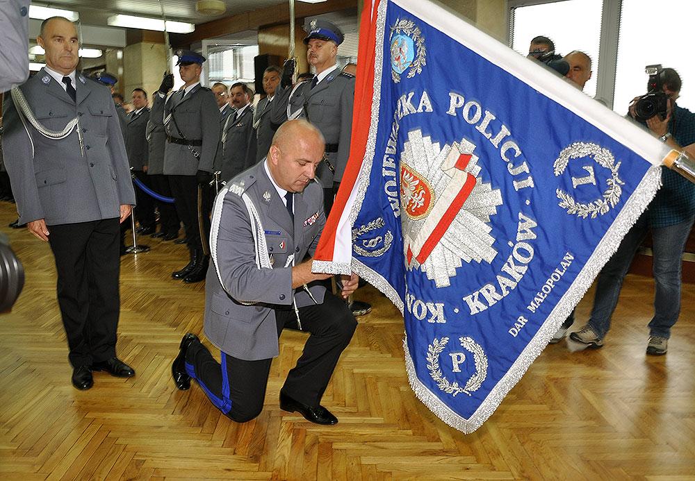 Generała uroczyście powitali małopolscy policjanci [ zobacz zdjęcia ]