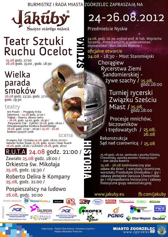 Krakowskie smoki Groteski na Średniowiecznym festynie staromiejskim JAKUBY w Zgorzelcu
