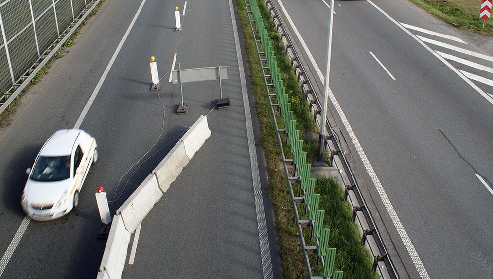 Znikają utrudnienia na A4 w okolicy węzła Opatkowice