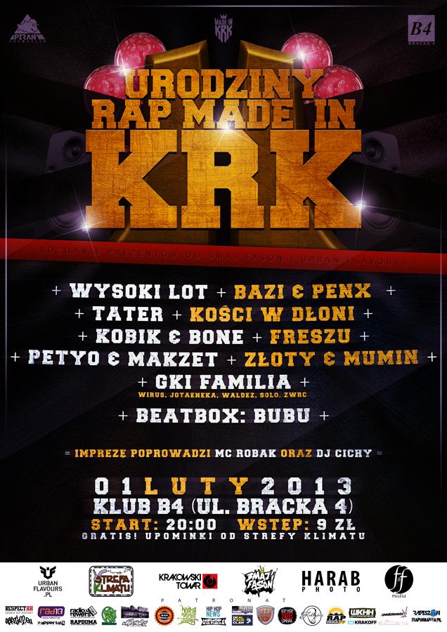 Zapraszamy na Drugie Urodziny Rap Made In KRK!