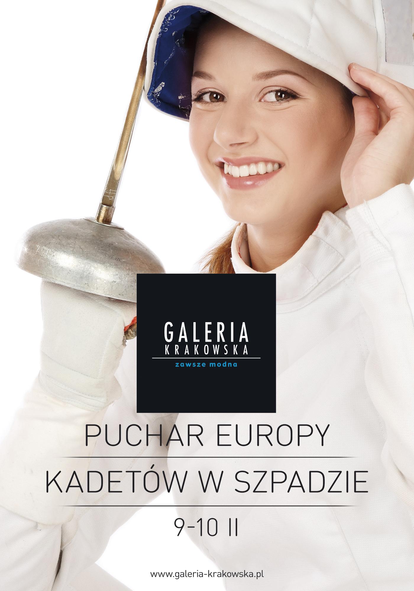 Mistrzowskie pchnięcie Puchar Europy Kadetów w Szpadzie w Galerii Krakowskiej