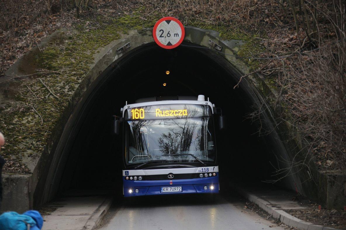Przez tunel w Ruszczy przejedziesz nową linią autobusową nr 160