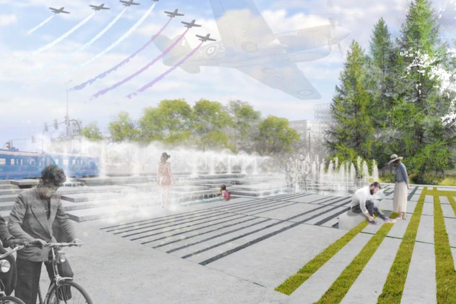 W Parku Lotników powstaje fontanna