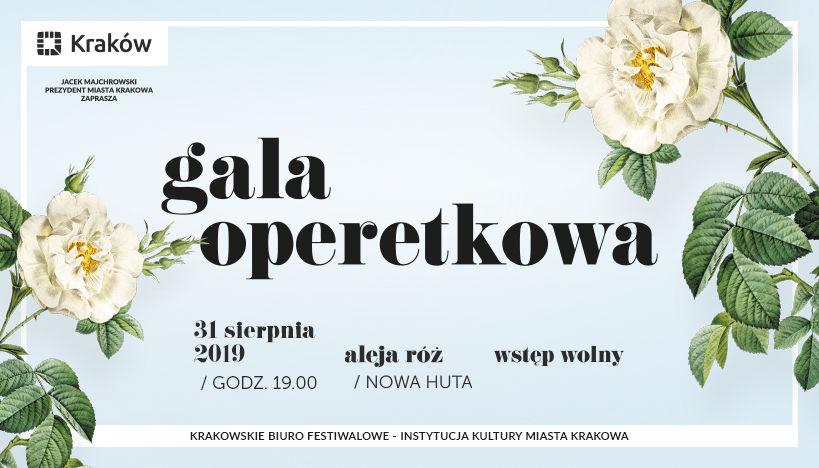 Znamy program Gali operetkowej w alei Róż