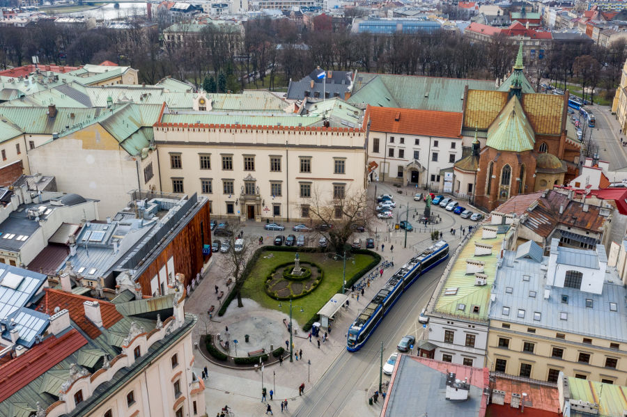 Zmiany w centrum Krakowa usprawnią ruch komunikacji miejskiej
