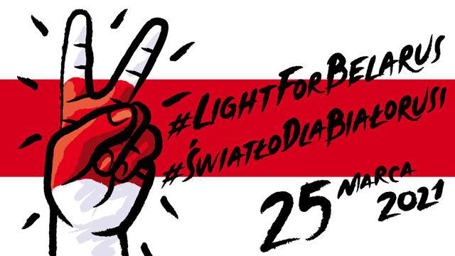 #LightForBelarus. Kraków znowu w kolorach biało-czerwono-białej flagi